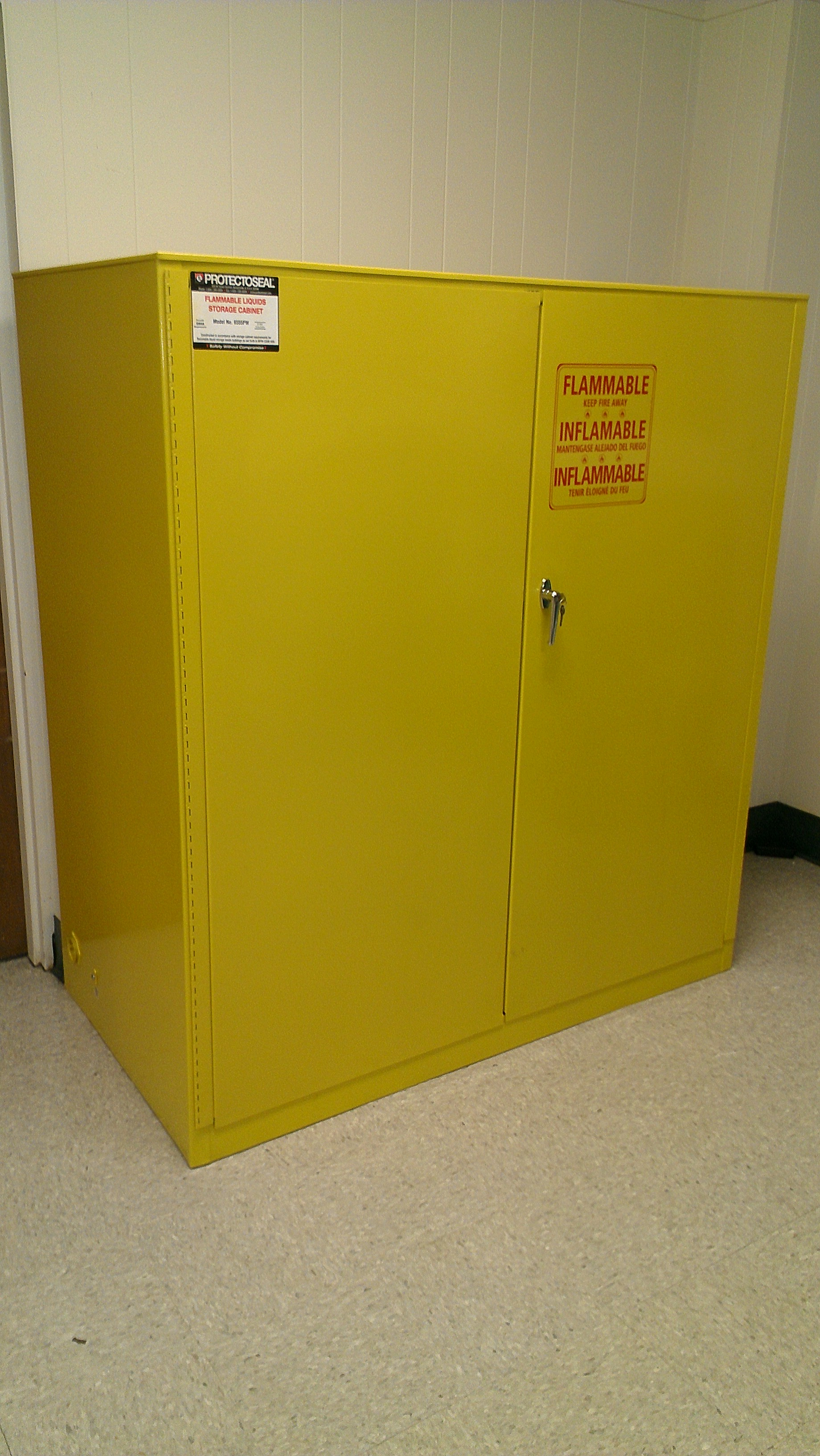 Yellow Flammable Cabinet New Used Liquid Flammable Fire Safety Cabinets