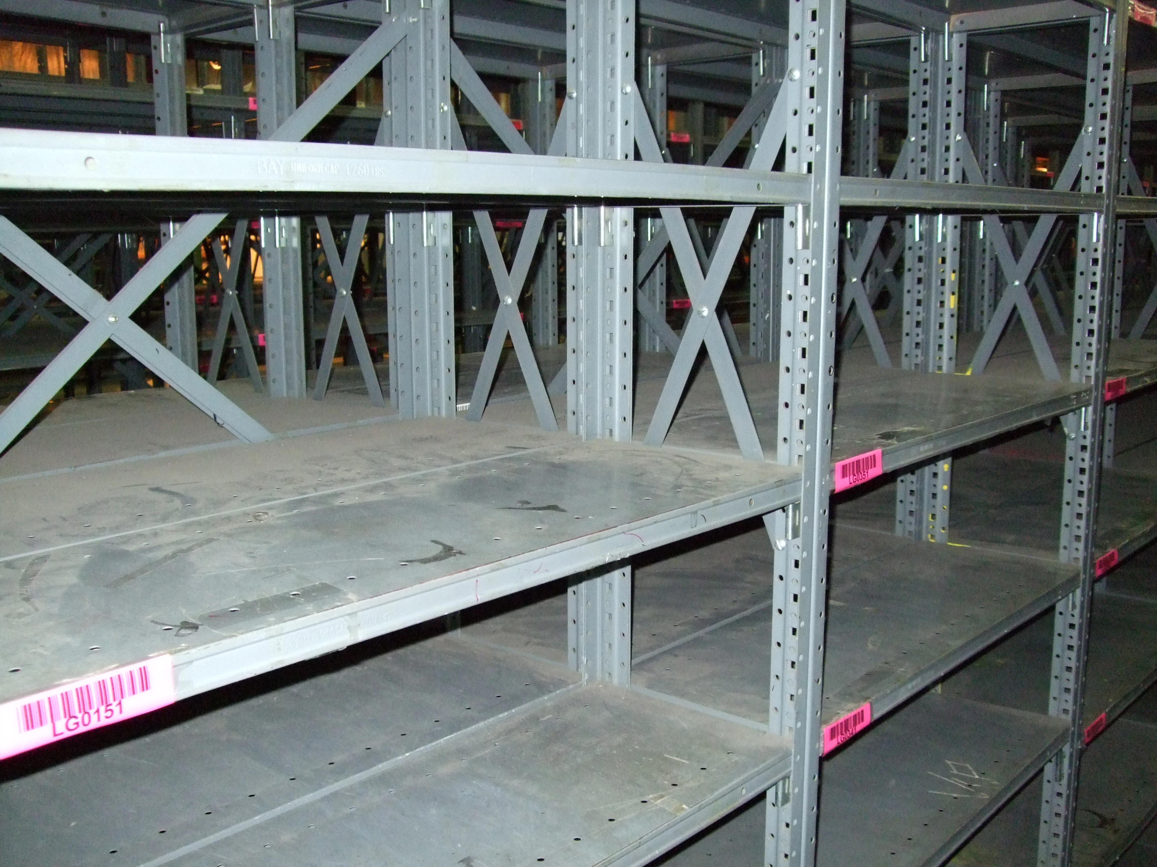 new used industrial steel shelving republic clip style rh aasurplusinc com used metal shelves near me used metal shelves for sale at walmart
