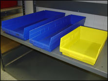 Used Poly Shelf Bins